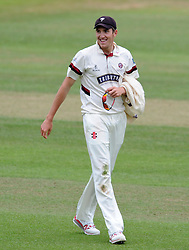 Somerset's Craig Overton. - Photo mandatory by-line: Harry Trump/JMP - Mobile: 07966 386802 - 06/07/15 - SPORT - CRICKET - LVCC - County Championship Division One - Somerset v Sussex- Day Two - The County Ground, Taunton, England.