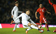 Lewis Baker (Vitesse Arnhem, loan from Chelsea), England U21 GOES CLOSE during the UEFA European Championship Under 21 2017 Qualifier match between England and Switzerland at the American Express Community Stadium, Brighton and Hove, England on 16 November 2015.