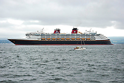 Disney's Cruise Ship The Magic leaves Greenock after the Cruise Line's first ever visit to Scotland<br />