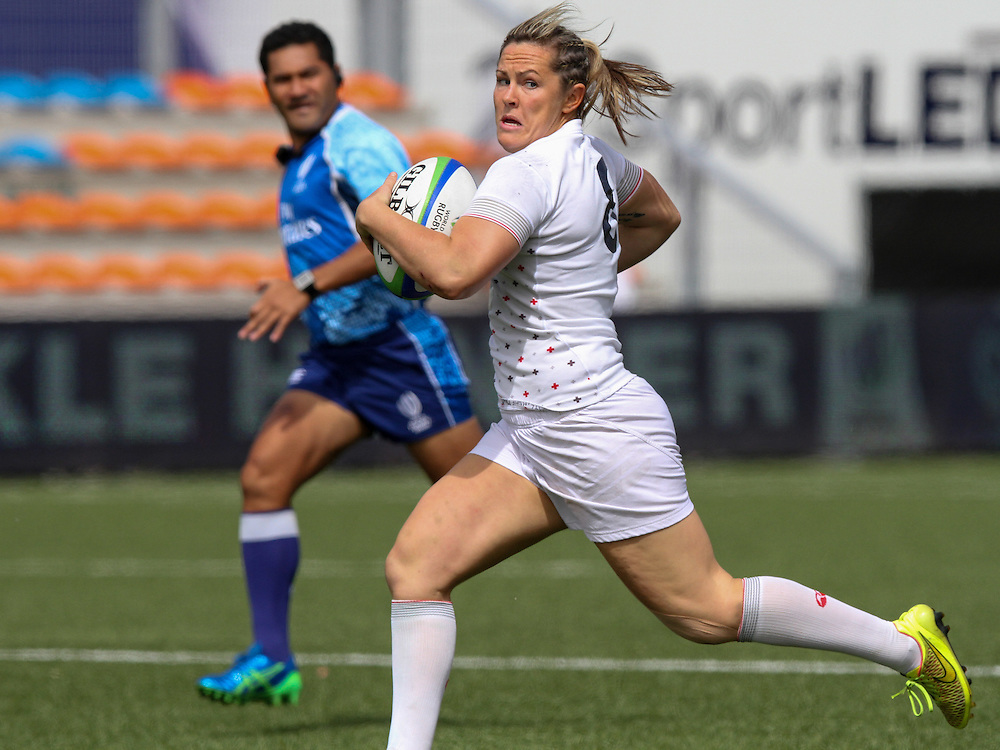 Marlie Packer in action for England, Women's Sevens World Series - Amsterdam Leg, NRCA, Amsterdam, Netherlands, Day 1 on 22nd May 2015.