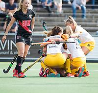 AMSTELVEEN - Margot van Geffen (Den Bosch) heeft gescoord   tijdens de finale van de play-offs om de landstitel in het Wagener stadion, tussen Amsterdam en Den Bosch (1-4). Den Bosch kampioen  COPYRIGHT KOEN SUYK