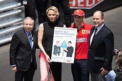 Jean Todt, Princess Charlene of Monaco, Charles Leclerc and Prince Albert II of Monaco attend the F1 Grand Prix of Monaco on May 26, 2019 in Monte-Carlo, Monaco.<br /> Photo by David Niviere/ABACAPRESS.COM
