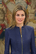 """031414 Princess Letizia attends an Audience to a representation of the magazine """"Vogue Spain"""""""