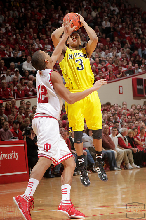 05 January 2012: Michigan Wolverines guard Trey Burke (3) as the Indiana Hoosiers played the University of Michigan Wolverines in a college basketball game in Bloomington, Ind.
