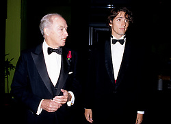 Sep 01, 1996 - Montreal, Quebec, Canada - PIERRE ELIOTT TRUDEAU (R) and his son JUSTIN (L) enters the Bonsecour Market where a fundraiser event his held, September 1996, in Montreal, CANADA. Justin annonced he may be a Liberal Candidate in the2007 next Canadian election.  Pierre Eliott Trudeau was Prime Minister of Canada from 1968�1979 and 1980-1984.  He died September 28, 2000. (Credit Image: © Pierre Roussel/Images Distribution/ZUMA Press)