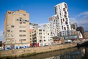 Regeneration of former industrial area of the Wet Dock, Ipswich, Suffolk, England