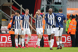 West Bromwich Albion's Jay Rodriguez (centre) celebrates scoring his side's first goal of the game during the Premier League match at the Vitality Stadium, Bournemouth.