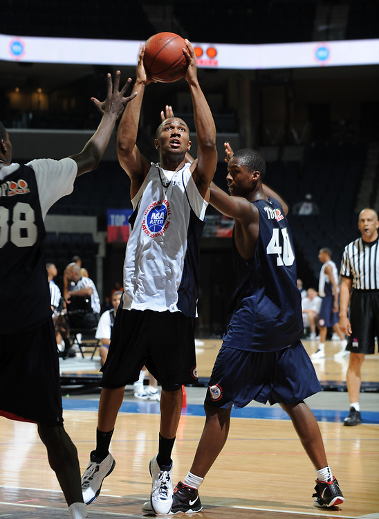 Trey Zeigler handles the ball during the 2009 NBPA Top 100 Basketball Camp held Friday June 17- 20, 2009 in Charlottesville, VA. Photo/ Andrew Shurtleff
