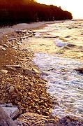 Lake Michigan shoreline.  Door County Wisconsin USA