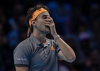 Tennis - 2019 Nitto ATP Finals at The O2 - Day Eight<br /> <br /> Singles Final : Stefanos Tsitsipas (Greece) Vs. Dominic Thiem (Austria)<br /> <br /> A momoent of despair for Dominic Thiem (Austria) as he covers his face with his hands <br /> <br /> COLORSPORT/DANIEL BEARHAM