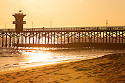 Seal Beach Pier During An Early Sunset