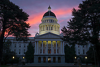 California State Capitol at Sunrise, Sacramento, California