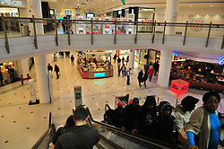 © Licensed to London News Pictures. 26/12/2015<br /> A Policeman outside Carluccio's inside Intu,Bromley.<br /> Police have arrested a man in the Intu shopping centre in Bromley,Kent. Armed police were called after getting reports of a man attacking people with a large machete.<br /> (Byline:Grant Falvey/LNP)