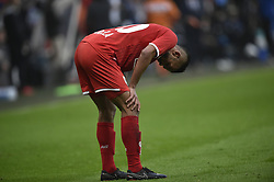 May 13, 2018 - Liege, BELGIUM - Standard's Mehdi Carcela reacts during the Jupiler Pro League match between Standard de Liege and Club Brugge, in Liege, Sunday 13 May 2018, on day nine (out of ten) of the Play-Off 1 of the Belgian soccer championship. BELGA PHOTO JOHN THYS (Credit Image: © John Thys/Belga via ZUMA Press)