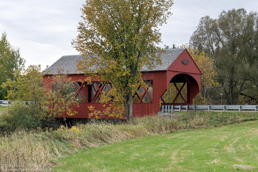 The Masham Bridge is a covered bridge along Lac Phillipe Road that crosses the La Pêche River in Sainte-Cécile-de-Masham, Québec, Canada. The Masham Bridge was built in 1958 and spans 19.5m / 64ft. at near the entrance to Gatineau Park.