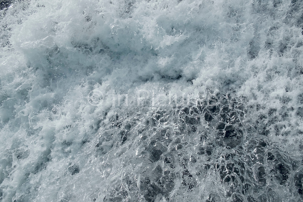 Water splash captured at high speed in the sea from a boat in La Palma, Canary Islands, Spain.
