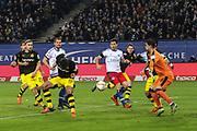 Fussball: Deutschland, 1. Bundesliga, Hamburger SV - BVB Borussia Dortmund, Hamburg, 20.11.2015<br /> <br /> Eigentor von Mats Hummels (BVB, l.) zum 3:0<br /> <br /> © Torsten Helmke