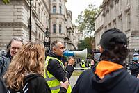 Anti-lockdown activists demonstrating against coronavirus restrictions lDowning Street London 10th oct 2020 photo Mark anton Smith