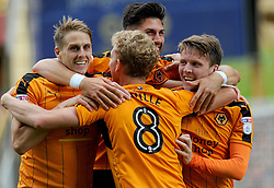 Joe Mason of Wolverhampton Wanderers celebrates with team mates - Mandatory by-line: Nizaam Jones/JMP - 13/08/2016 - FOOTBALL - Molineux - Wolverhampton, England - Wolverhampton Wanderers v Reading - Sky Bet Championship