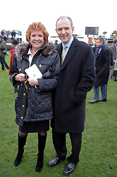 CILLA BLACK and GRAHAM BOYES at the Hennessy Gold Cup 2009 held at Newbury Racecourse, Berkshire on 28th November 2009.