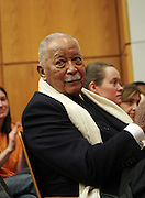 New York, NY- January 16: Former New York City Mayor David N. Dinkins  at the New York City Service Program in Honor of Martin Luther King Jr. Day held at the Mirabel Sisters Campus in West Harlem, New York City. Photo Credit: Terrence Jennings