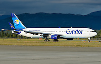 Condor Airlines Boeing 767 in Whitehorse, Yukon