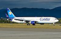Condor Airlines Boeing 767 in Whitehorse, Yukon