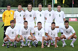 Players of Slovenia before the Qualifications for UEFA U-21 EC 2009 soccer match between Slovenia and Finland at Velenje stadion At lake, on September 9,2008, in Velenje, Slovenia.  (Photo by Vid Ponikvar / Sportal Images)