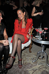 JADE JAGGER at Quintessentially's 10th birthday party held at The Savoy Hotel, London on 13th December 2010.