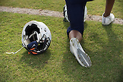 """Frisco Wakeland football players wear their Nike gear during practice in Frisco, Texas on August 23, 2016. """"CREDIT: Cooper Neill for The Wall Street Journal""""<br /> TX HS Football sponsorships"""