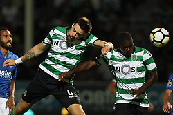 September 8, 2017 - Santa Maria Da Feira, Aveiro, Portugal - Sporting's Uruguayan defender Sebastian Coates (L) and Sporting's Portuguese midfielder William Carvalho (R) in action during the Premier League 2017/18 match between CD Feirense and Sporting CP, at Marcolino de Castro Stadium in Santa Maria da Feira on September 8, 2017. (Credit Image: © Dpi/NurPhoto via ZUMA Press)