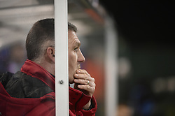 February 17, 2018 - Leuven, BELGIUM - OHL's head coach Nigel Pearson reacts during a soccer game between OH Leuven and KFCO Beerschot Wilrijk, in Heverlee, Leuven, Saturday 17 February 2018, on day 27 of the division 1B Proximus League competition of the Belgian soccer championship. BELGA PHOTO BRUNO FAHY (Credit Image: © Bruno Fahy/Belga via ZUMA Press)
