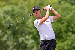 May 12, 2019 - Dallas, TX, U.S. - DALLAS, TX - MAY 12: Kevin Na hits his tee shot on #4 during the final round of the AT&T Byron Nelson on May 12, 2019 at Trinity Forest Golf Club in Dallas, TX. (Photo by Andrew Dieb/Icon Sportswire) (Credit Image: © Andrew Dieb/Icon SMI via ZUMA Press)