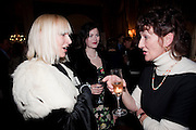 VIRGINIA BATES  JASMINE GUINNESS JANE ORMSBY-GORE;, The Dowager Duchess od Devonshire and Catherine Ostler editor of the Tatler host a party to celebrate Penguin's reissue of Nancy Mitford's ' Wigs on the Green.'  The French Salon. Claridge's. London. 10 March 2010.