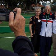 Photo time during the 2009 ITF Super-Seniors World Team and Individual Championships at Perth, Western Australia, between 2-15th November, 2009