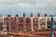 07 septiembre 2021. Nextlalpan, México. Aspects of a bridge being built to connect the International Airport Felipe Ángeles with Mexico City. /  Aspectos de la construcción de la carretera que dará acceso al Aeropuerto Internacional Felipe Ángeles (AIFA), imágenes tomadas en el municipio de Nextlalpan,