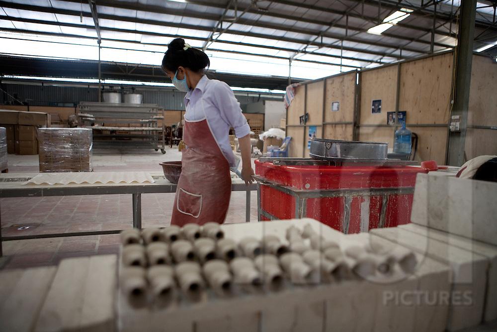 Xuan Hoa factories, Vinh Phuc, Vietnam, Asia. Pottery worshop