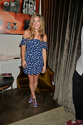 CHELSEA LEYLAND at the Creme de la Mer Blue Marine Foundation Dinner held at The Arts Club, 40 Dover Street, London on 23rd June 2015.