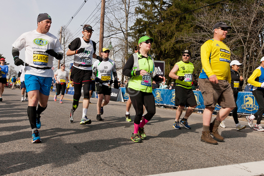 2013 Boston Marathon: mobility impaired athletes start