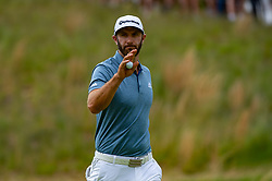 May 19, 2019 - Farmingdale, NY, U.S. - FARMINGDALE, NY - MAY 19: Dustin Johnson of the United States of America after making his putt on the sixth green during Round 4 of the PGA Championship Tournament on May 19, 2019, at Bethpage State Park in Farmingdale, NY (Photo by John Jones/Icon Sportswire) (Credit Image: © John Jones/Icon SMI via ZUMA Press)