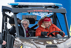 20.01.2018, Hahnenkamm, Kitzbühel, AUT, FIS Weltcup Ski Alpin, Kitzbuehel, Kitz Charity Trophy, im Bild v.l.: Bernie Ecclestone, Niki Lauda // f.l.: Bernie Ecclestone Niki Lauda during the Kitz Charity Trophy of the FIS Ski Alpine World Cup at the Hahnenkamm in Kitzbühel, Austria on 2018/01/20. EXPA Pictures © 2018, PhotoCredit: EXPA/ Stefan Adelsberger