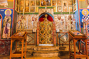 Altar in the abbey chapel, Krka Monastery, Krka National Park, Dalmatia, Croatia