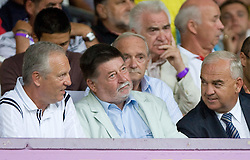 Branko Florjanic, and Franc Kopatin at Third Round of Champions League qualifications football match between NK Maribor and FC Zurich,  on August 05, 2009, in Ljudski vrt , Maribor, Slovenia. Zurich won 3:0 and qualified to next Round. (Photo by Vid Ponikvar / Sportida)