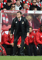 Bristol City manager, Steve Cotterill on the side line at Ashton Gate - Photo mandatory by-line: Paul Knight/JMP - Mobile: 07966 386802 - 25/01/2015 - SPORT - Football - Bristol - Ashton Gate - Bristol City v West Ham United - FA Cup fourth round