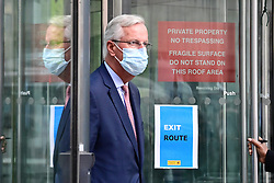 © Licensed to London News Pictures. 10/09/2020. London, UK. Cheif EU negotiator MICHEL BARNIER is seen leaving the Department for Business  following a round of negotiations between the UK Government and the EU. British Prime Minister Boris Johnson has threatened to overwrite parts of the EU withdrawal agreement signed with Brussels last October. Photo credit: Ben Cawthra/LNP