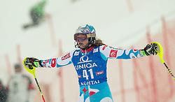 29.12.2014, Hohe Mut, Kühtai, AUT, FIS Ski Weltcup, Kühtai, Slalom, Damen, 2. Durchgang, im Bild Anne-Sophie Barthet (FRA) // Anne-Sophie Barthet of France reacts after 2nd run of Ladies Giant Slalom of the Kuehtai FIS Ski Alpine World Cup at the Hohe Mut Course in Kuehtai, Austria on 2014/12/29. EXPA Pictures © 2014, PhotoCredit: EXPA/ JFK
