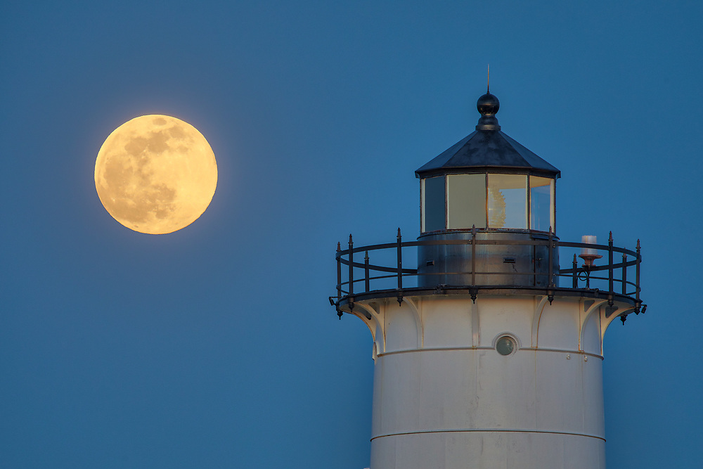 Pink full moon rising behind Nobska Light in Falmouth, Massachusetts on Cape Cod.<br /> <br /> Beautiful Massachusetts full moon and Nobska Lighthouse fine art photography pictures are available as museum quality photography prints, canvas prints, acrylic prints, wood prints or metal prints. Fine art prints may be framed and matted to the individual liking and interior design decorating needs:<br /> <br /> https://juergen-roth.pixels.com/featured/falmouth-nobska-lighthouse-and-full-moon-juergen-roth.html<br /> <br /> Good light and happy photo making!<br /> <br /> My best,<br /> <br /> Juergen
