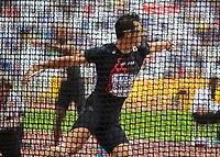 Athletics - 2017 IAAF London World Athletics Championships - Day Nine, Morning Session<br /> <br /> Decathlon Men - Discus Throw<br /> <br /> Keisuke Ushiro (Japan)  at the London Stadium<br /> <br /> COLORSPORT/DANIEL BEARHAM