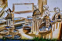 France, Morbihan (56), côte sauvage, Presqu'île de Quiberon, Quiberon, Port Maria, peinture murales // France, Morbihan (56), Wild Coast, Quiberon Peninsula, Quiberon, Port Maria, Wall Painting