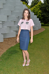 Actress ELLA HUNT at a party hosted by fashion store COS to celebrate The Serpentine Park Nights 2016 held at The Serpentine Gallery, Kensington Gardens, London on 12th July 2016.